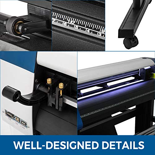 VEVOR Vinyl Cutter 53 Inch Vinyl Cutter Machine Semi-Automatic DIY Vinyl Printer Cutter Machine Manual Positioning Sign Cutting with Floor Stand Signmaster Software Photo #5
