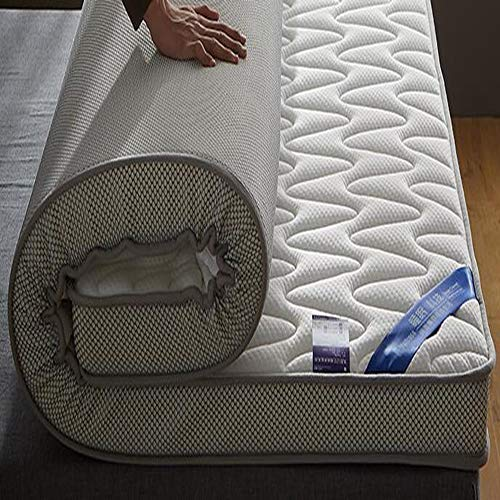 Memory-Foam-matratze,Tatami Pillowtop 10cm Latex Hohe Elastizität Atmungsaktive Schlafsaal Student Hotel Matratze Schlafen-weiß 100x200cm(39x79inch)