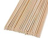 Holzdübelstäbe, Bastelstäbe für Bastelprojekte, 30 Stück (5 mm Durchmesser, 20 cm lang)