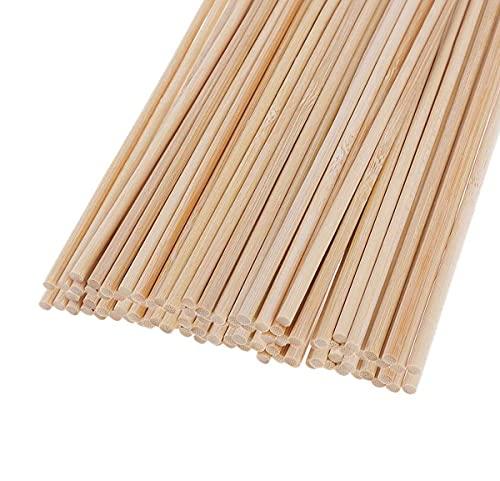 Träpluggar stavar, 30 st träpinnar för hantverksprojekt och konstarbete (5 mm x 20 cm)