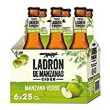 Ladrón de Manzanas Verde Sidra - Paquete de 6 x 250 ml (Total: 1500 ml)