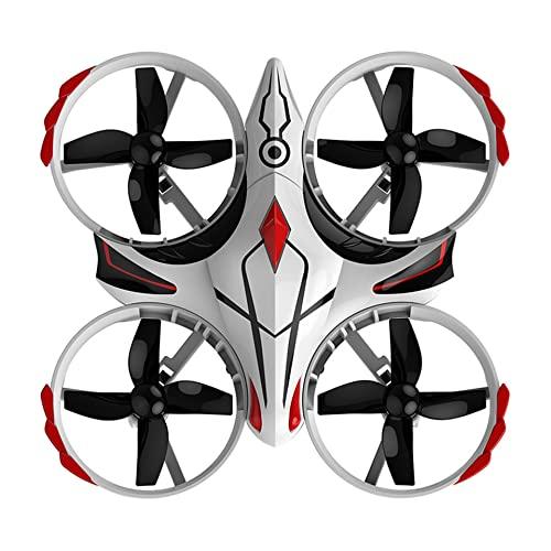 OUYBO Mini UFO H56. Tiny Whoop Drone 2. 4G RC 4. CH del telecomando Helicopter Altitudine Hold Infraring Sensing 300mAh Lipo Battery Giocattoli Accessori per batterie di parti RC (Color : White)