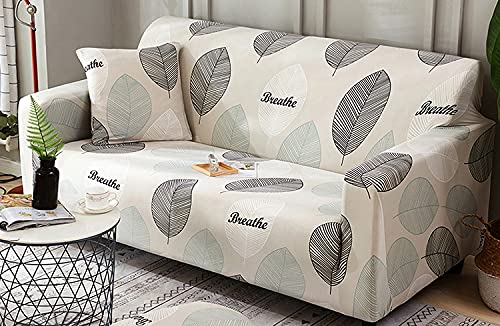KINGLY Universal Three Single Seater Stretch Sofa Cover Printed Couch Covers Loveseat Slipcovers Sofas Elastic Universal Furniture Protector (Triple 3 Seater, Beige)