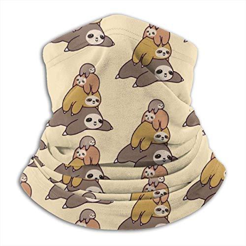 Perezoso Family - Polaina de forro polar para el cuello para exteriores, color negro