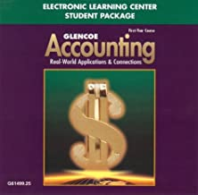 Glencoe Accounting First Year Course Electronic Learning Center Student Package