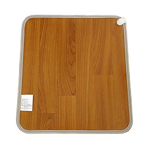 MHGLOVES Beheizbare Bodenmatte, Fußbodenheizung Mit 3 Temperatur Einstellbar, Beheizbare Kohlenstoffkristall Fußboden-Matte, Fußheizung Elektrisch Thermostat Für Heim Büro,Dark Color,50x55cm