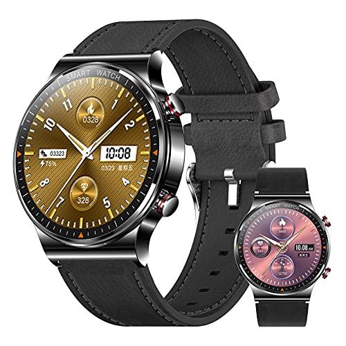 HQPCAHL Relojes Inteligente Hombre,Smartwatch con Llamadas Pulsómetro Presión Arterial Monito De Sueño,Podómetro Pulsera Reloj Impermeable para Android iOS,G