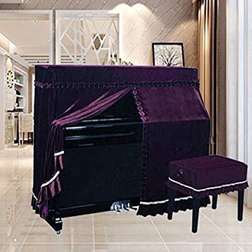 PIAOCHUANG Klavier Staub Abdeckung,-dreidimensionale Stickerei Prozess Einfache Verdicken Sie Alle Schutzabdeckung Universelles Bezugstuch-b Modell 118-123 + 36 × 56 cm