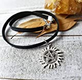 Supernatural anti possession pentacle choker necklace protection sigil winchester