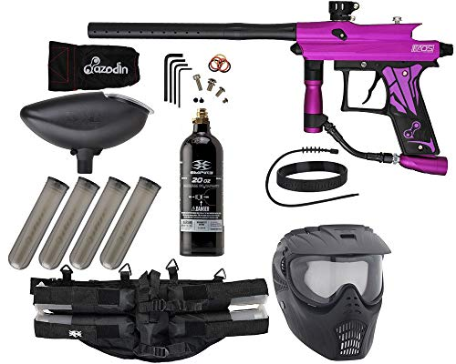 Action Village Azodin KAOS 3 Paintball Gun Epic Package Kit (Dust Purple with Dust Black Parts)