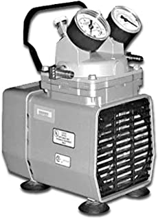 Gast DOA-P704-AA Diaphragm Vacuum/Pressure Pump, Plastic, 115V, 60 Hz, 7-3/5