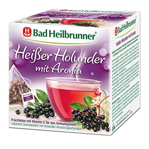 Bad Heilbrunner Heißer Holunder mit Aronia Tee im Pyramidenbeutel, 6er Pack (6 x 15 Pyramidenbeutel)
