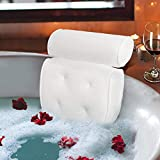 Bath Pillow Spa Bathtub Cushion Head,Neck,Shoulder and Back Support Rest with 4 Non-Slip Strong Suction Cups