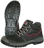 Nitras 7201 Step II Botas de Trabajo - Zapatos de Seguridad S3 para Hombres y Mujeres - Botas Resistentes al Agua con Punta de Acero - Negro, Tamaño 41