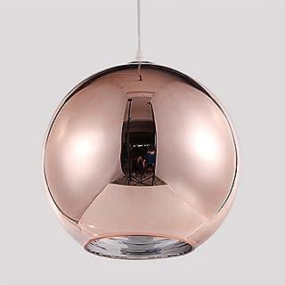 Huahan Haituo Przemysłowe nowoczesne lustro, szklane kule, lampa wisząca, regulowane lustro, lampa sufitowa do kuchni, jad...
