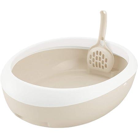 リッチェル 猫用トイレ本体 ラプレ ネコトイレ ホワイト M サイズ