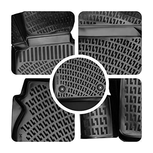 Rizline 3D Gummimatten Auto Matten Fussmatten kompatibel mit VW Golf 7 5 Türer/Golf 7 Variant (2012-2019) passgenaue mit hohem Rand c.a 5 cm