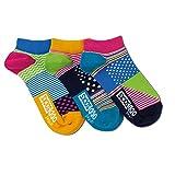 trendaffe Punkte & Streifen Füsslinge Socken in 37-42 im 3er Set - Strumpf
