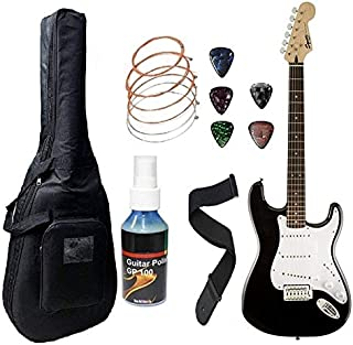 Fender Electric Guitar Squier Bullet Stratocaster 6-Strings Right-Handed, (S-S-S) 0370001506 - Black, Rosewood Fret board ...