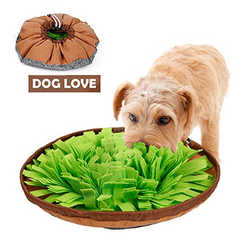 CPOPBOY Snuffle Mat,Dog Snuffle Mat,Nosework for Dogs Large Small Pet Treat Interactive Puzzle