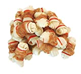 Pawant Dog Treats Puppy Training Snacks Promotes Healthy Chewing Chicken Wrapped Knot 2.5' 0.5lb