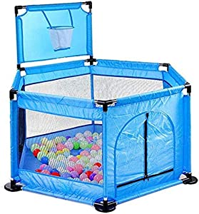 Teppichks Baby Play Fence  Expandable Indoor Family Toddler Crawling Safety Fence
