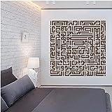 Adesivi labirinto Decorazioni per la casa Poster Soggiorno...