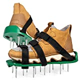 Punchau Lawn Aerator Shoes with Hook and Loop Straps - New Heavy Duty Spiked Aerating Sandals with Upgraded Soles and Straps for Aerating Your Lawn or Yard