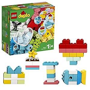 DUPLO Classic LEGO10909 HeartBoxFirstBricksBuildingSet,PreschoolLearningToyforToddlers1.5YearOld