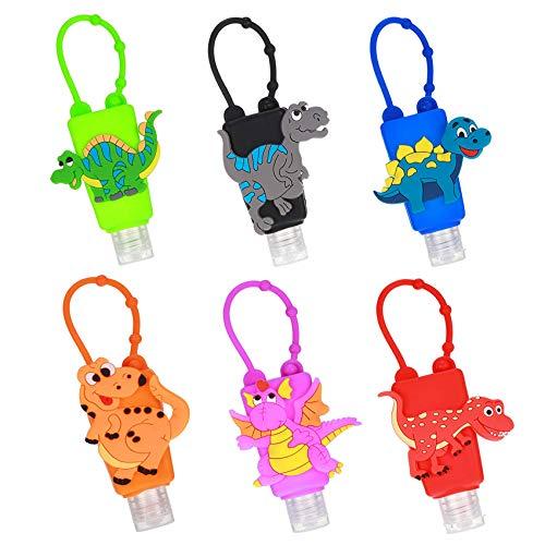 6 Stück Schlüsselanhänger Tragbarer,30 ml Reiseflaschen Set,Transparent Plastik Flaschen Reiseflaschen Set Mit Schlüsselanhänger Auslaufsicher Plastikflaschen,Tragbarer Kunststoff Reiseflaschen(E)