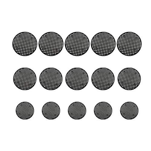 Healifty 150 Piezas Almohadillas de Malla para macetas Redondas Huecas Redondas de plástico Transpirable Estera de Rejilla de Fondo Neto para Suministros de jardín de Plantas Bonsai