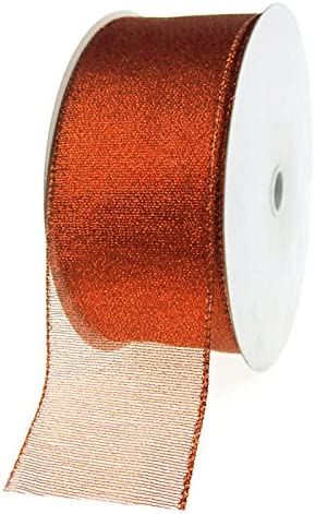 Excellent Homeford Firefly Imports Shimmer Chiffon specialty shop 2-1 2-Inch Edge Wired