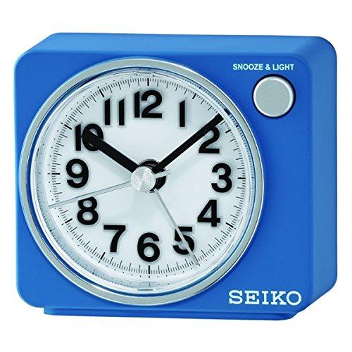 Seiko Wecker blau Kunststoff Schleichende Sekunde QHE100L
