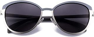 LUKEEXIN Ladies Outdoor Round Polarized Sunglasses, UV 400 Lens (Color : Gray)