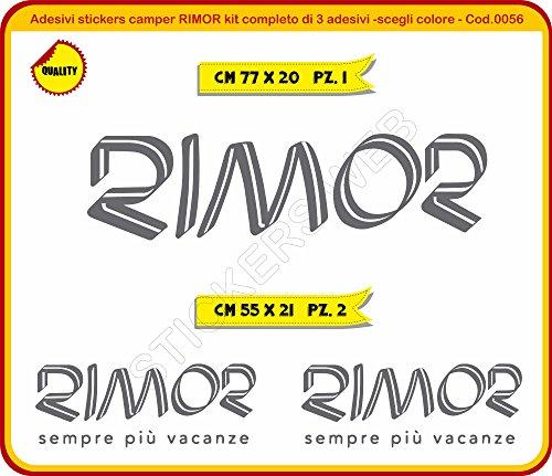 Adesivi Stickers Camper RIMOR Kit Completo Adesivi -(è Possibile Personalizzare i Colori)- Caravan roulotte cod.0056