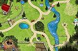Stikkipix Zauberwald Teppich | SM11 | Hochwertige Spiel-Matte für Das Kinder-Zimmer | ideales Zubehör zu Spiel-Figuren von Schleich, Playmobil, Papo, Bullyland & Co | 150 x 100 cm