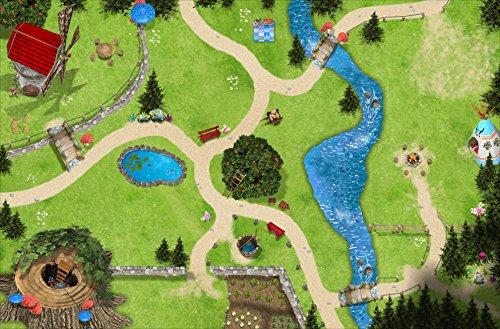 Bosque mágico Alfombra Infantil de Juego | SM11 Cuarto de los niños | Tamaño: 150 x 100 cm | Accesorios adecuados para Schleich, Papo, Bullyland, Playmobil etc. | STIKKIPIX