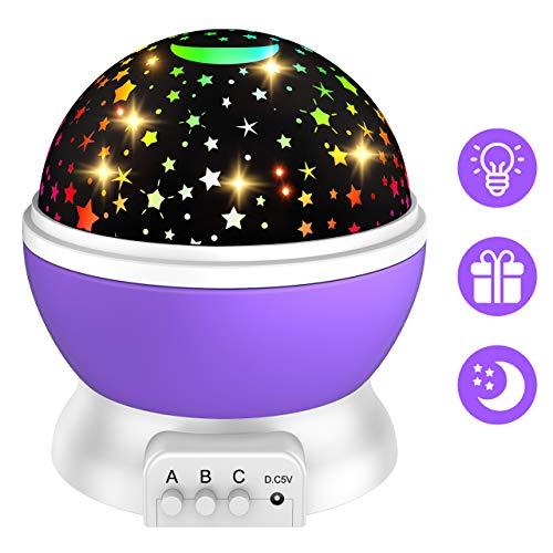 Dreamingbox Geschenke für Kinder 3-12 Jahre, Sternenhimmel Kinder Spielzeug 3 4 5 6 7 8 9 10 Jahren Mädchen Geburtstagsgeschenk für Mädchen 3-12 Jahre Spielzeug Mädchen 3-10 Jahre Lila