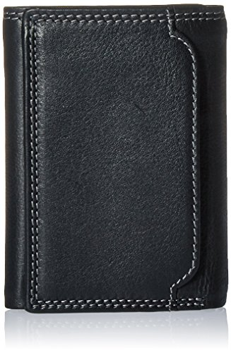 Style n Craft 300790-BL Black Tri-Fold Wallet by Style N Craft