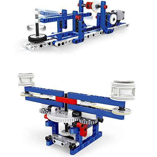 nacai 3D Puzzle Mechanisches Fahrzeugmodell kleine Partikel zusammengebaute Bausteine Spielzeug Entwicklung eines Gehirn-Puzzlespiels,A