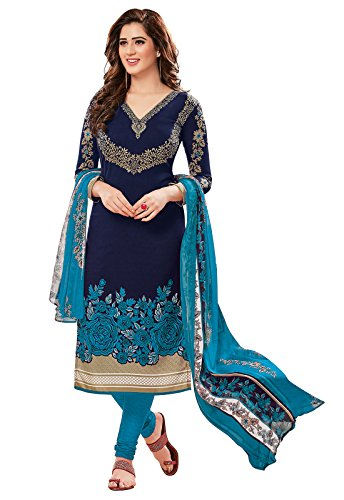 Ishin Women's Dress Material (Ddrrjgr-Rmzm9088_Blue_One Size)