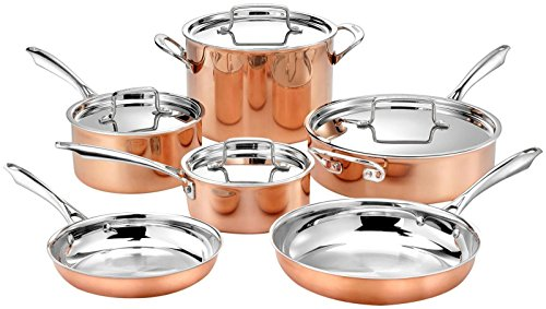 Cuisinart 10pc Tri-Ply Cooper Cookware Set: 1qt with...