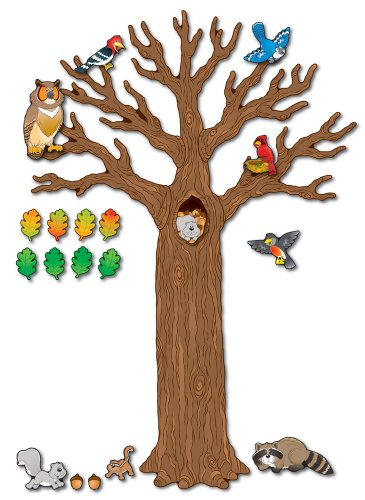 Big Tree with Animals Bulletin Board Set, Carson Dellosa Classroom Decorations Elementary, 120 Pieces