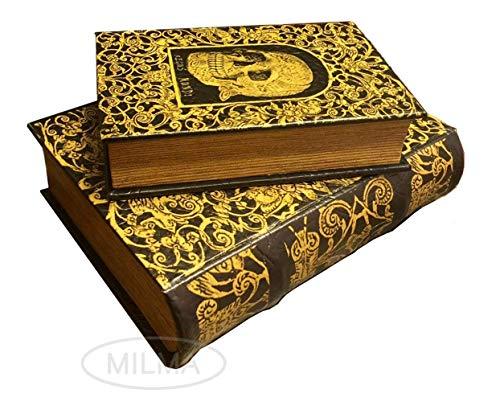 """Enchanted World of Boxes - Juego de 2 cajas de recuerdo con diseño de calavera del rey de los espíritus """"Regus Mundi"""""""