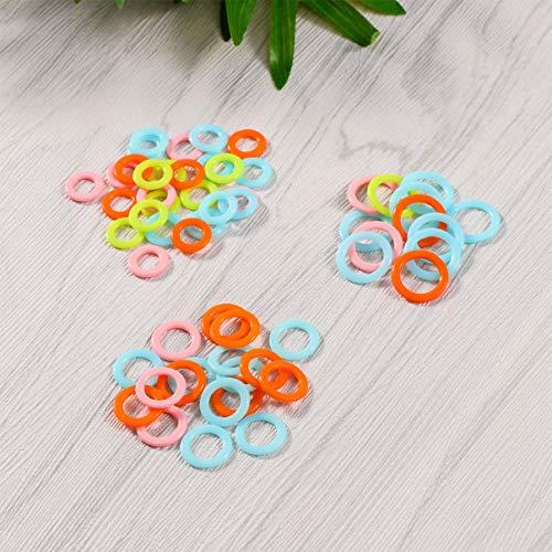 Healifty 300pcs Stitch Markers Marcatori per maglieria in plastica Anelli Smooth Crochet Stitch Marker Ring Maglieria assortiti Contatori Clip ad aghi (colore casuale)