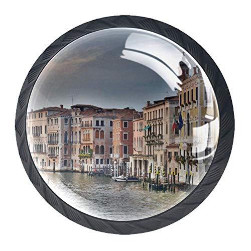 Venecia Italia Góndola redonda Pomos de cristal Tiradores d