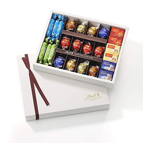 リンツ (Lindt) チョコレート プレゼント お菓子 ピック&ミックスギフトコレクション ショッピングバッグM付