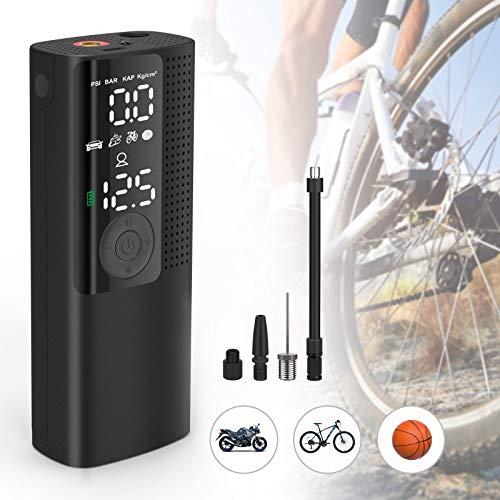 Vastar Elektrische Luftpumpe, Mini Luftpumpe mit 2000mAh, 0-120PSI, Auspufffunktion Großbildanzeige, Elektrische Luftpumpe für Fahrrad, Motorrad, Basketball, Football.