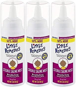 3-Pack Little Remedies Sterile Saline Nasal Mist, 3 oz