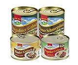 Eifeler Fleischwaren 4er Set Gulasch Variationen, 1,6kg -
